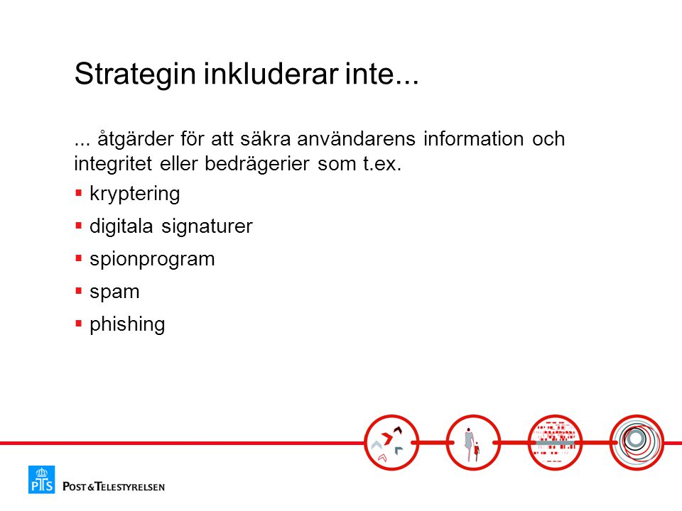 Strategin inkluderar inte......