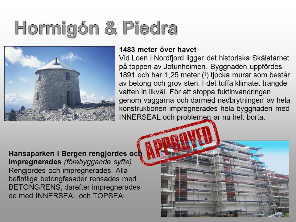 1483 meter över havet Vid Loen i Nordfjord ligger det historiska Skålatårnet på toppen av Jotunheimen. Byggnaden uppfördes 1891 och har 1,25 meter (!)
