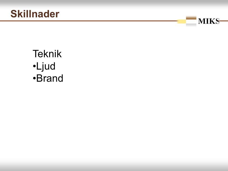 Skillnader Teknik Ljud Brand