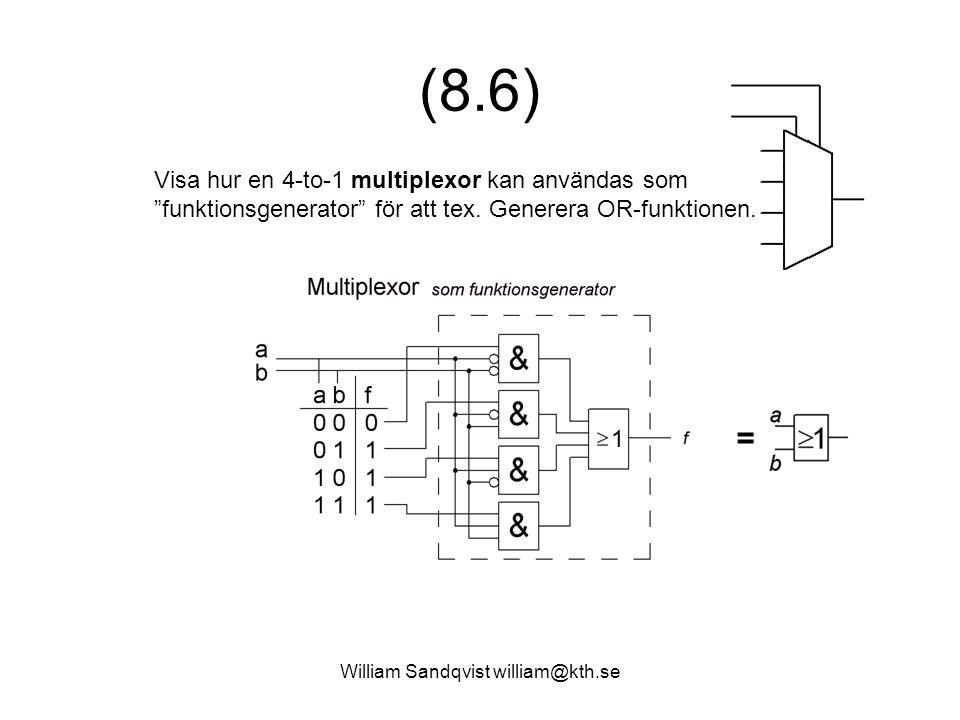 William Sandqvist william@kth.se (8.8) Ställ upp Ställ upp heladderarens sanningstabell.