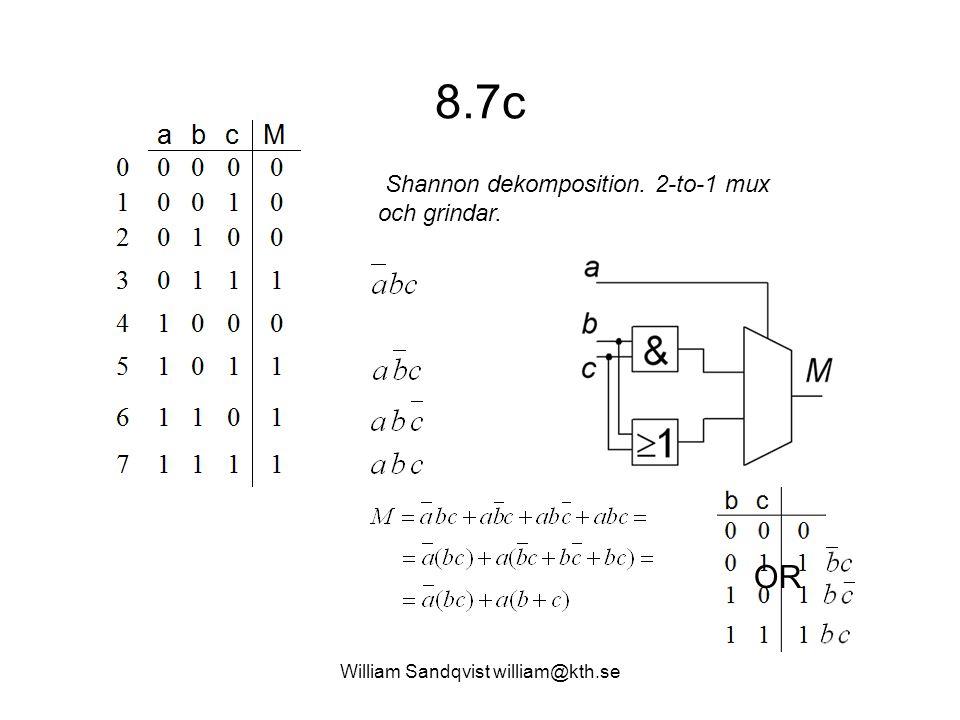 William Sandqvist william@kth.se 8.7d Shannon dekomposition. Enbart 2-to- 1 muxar.