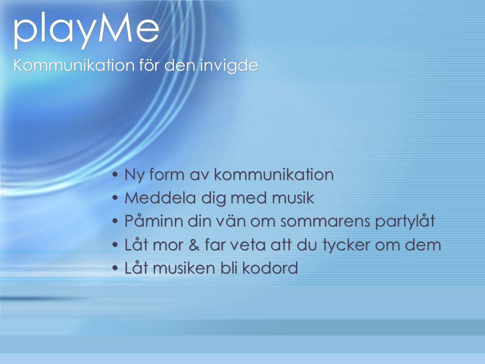 playMe Kommunikation för den invigde playMe Tre-i-ett -> Musikspelare Hårddisk Överraskning