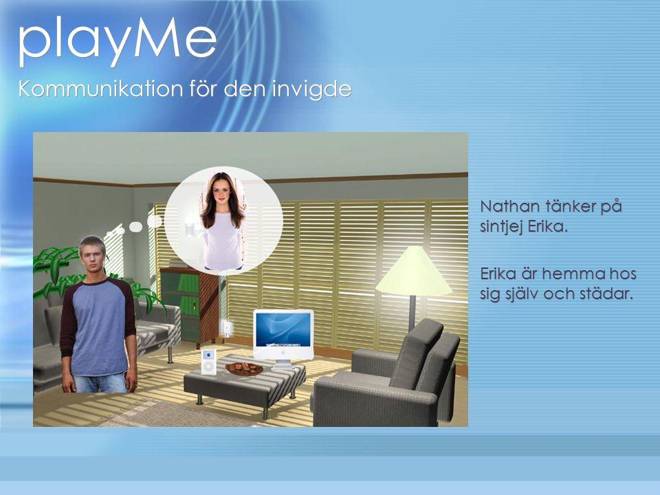 playMe Kommunikation för den invigde Nathan tänker på sintjej Erika.