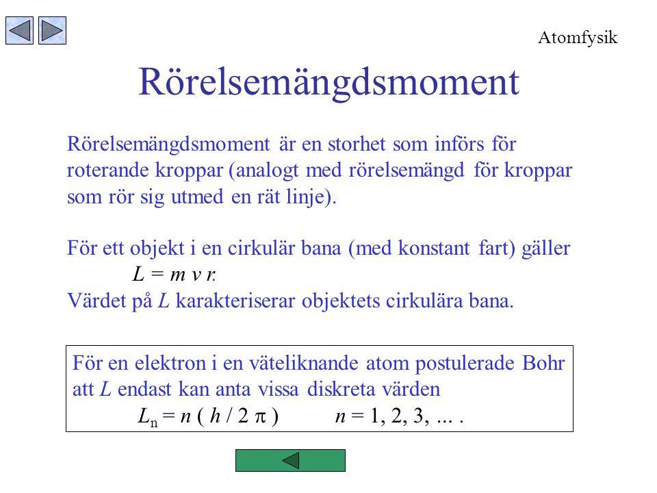 Rörelsemängdsmoment Rörelsemängdsmoment är en storhet som införs för roterande kroppar (analogt med rörelsemängd för kroppar som rör sig utmed en rät linje).