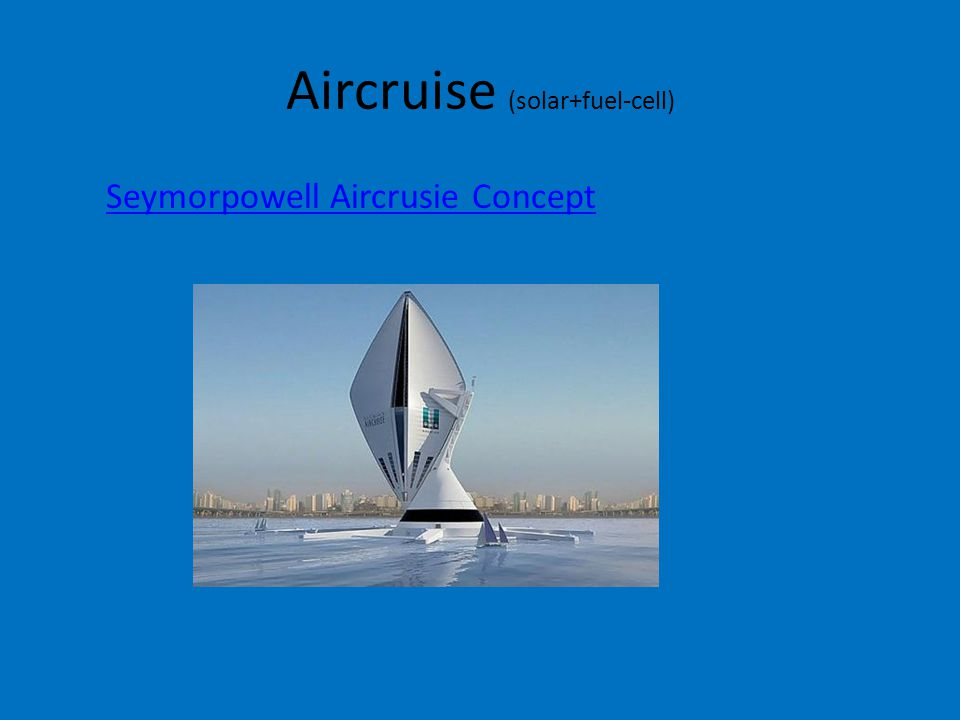 Aircruise (solar+fuel-cell) Seymorpowell Aircrusie Concept