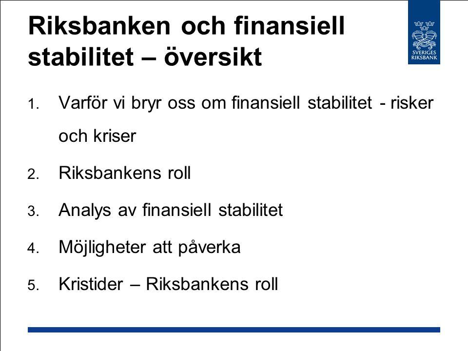 Förberedd krisorganisation Krisövningar - nationella/internationella Löpande analys, t.ex.