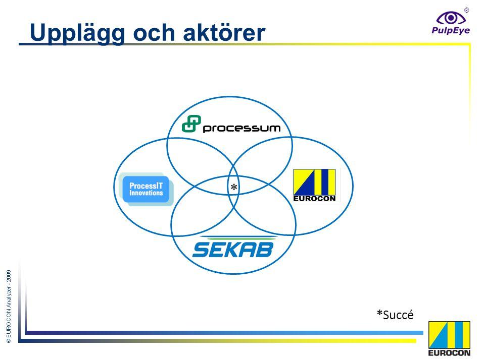 ® © EUROCON Analyzer - 2009 Upplägg och aktörer * *Succé