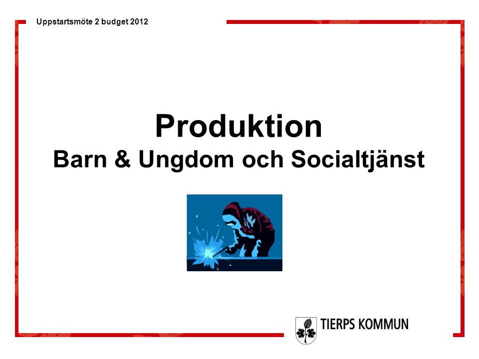Uppstartsmöte 2 budget 2012 Produktion Barn & Ungdom och Socialtjänst