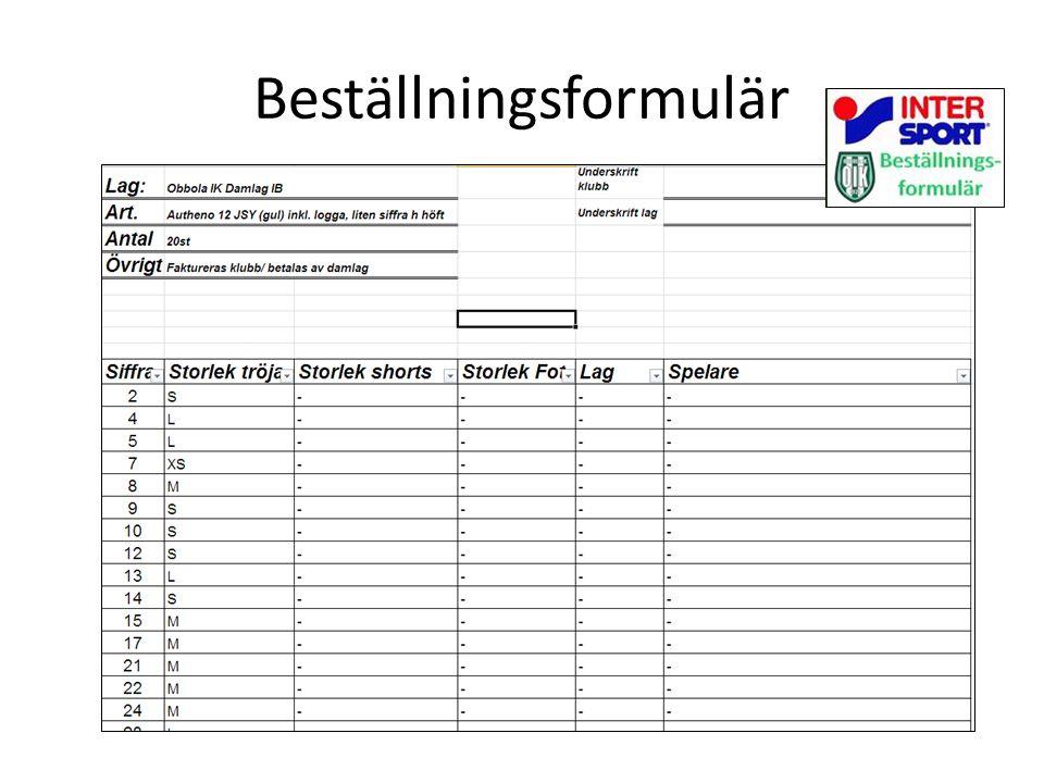 Beställningsformulär