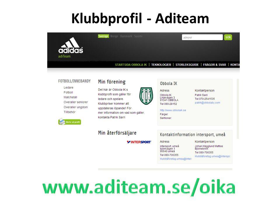 Klubbprofil - Aditeam