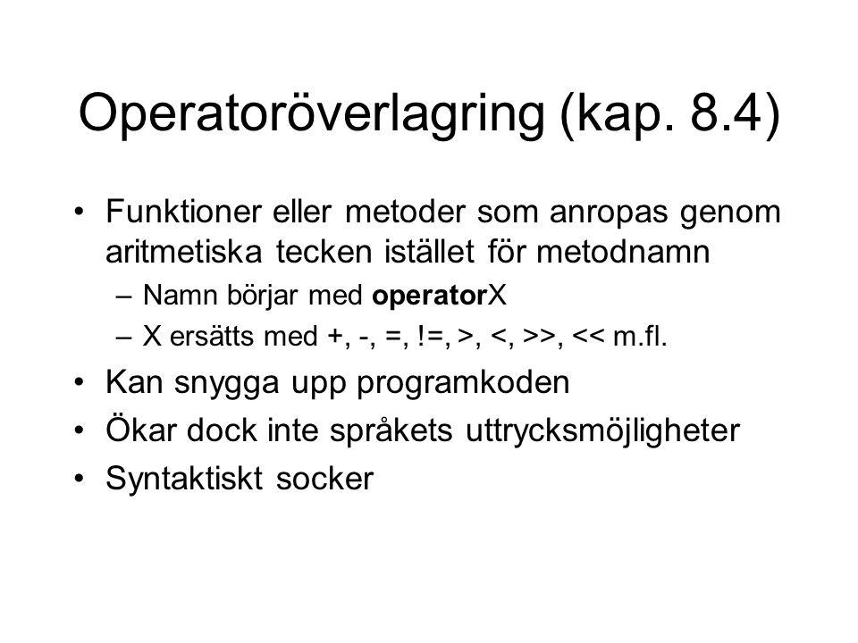 Operatoröverlagring (kap.
