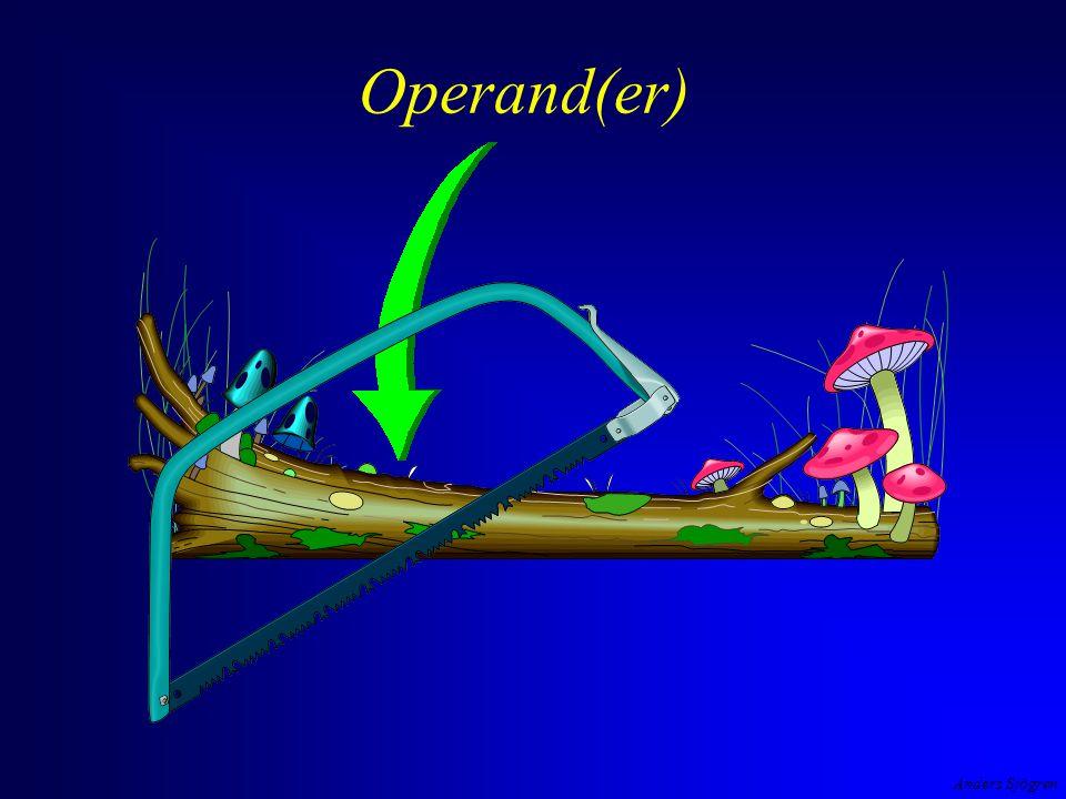 Anders Sjögren Operator och operand 3 + 2