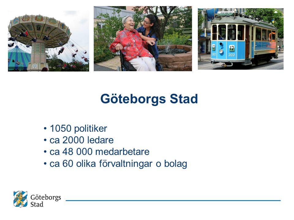 Utgångspunkten är arbetet som sker i stadens verksamheter varje dag Exempel på kommungemensamma uppdrag Centrala Älvstaden Infrapaketet Medborgarservice e-Hälsa UPP NEKK mfl