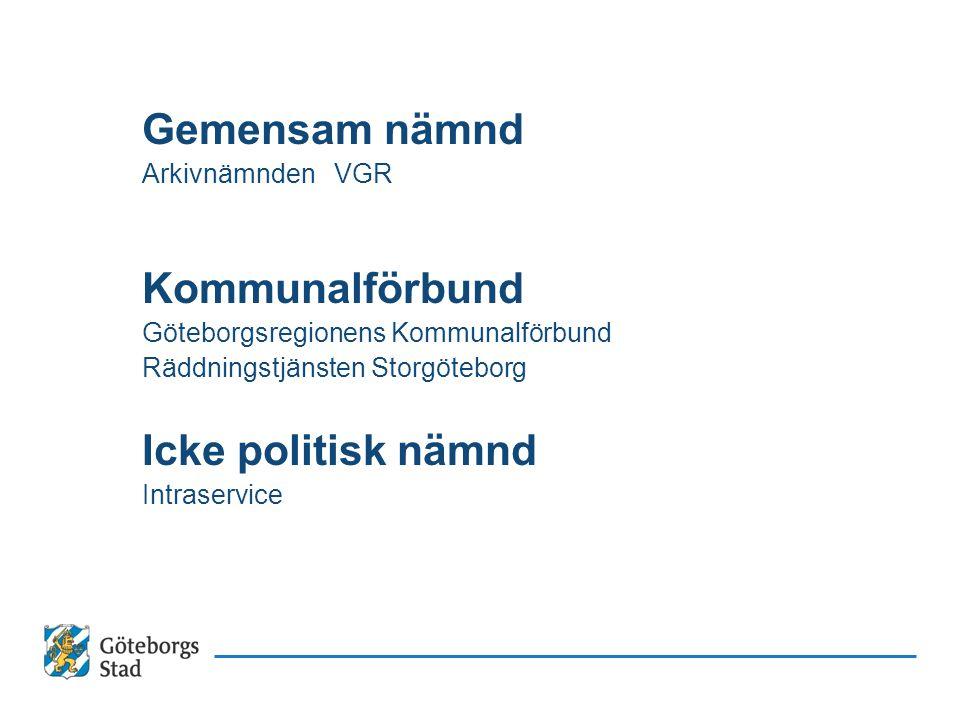 Styrning och ledning i Göteborgs Stad Att styra en hel stad åt samma håll.