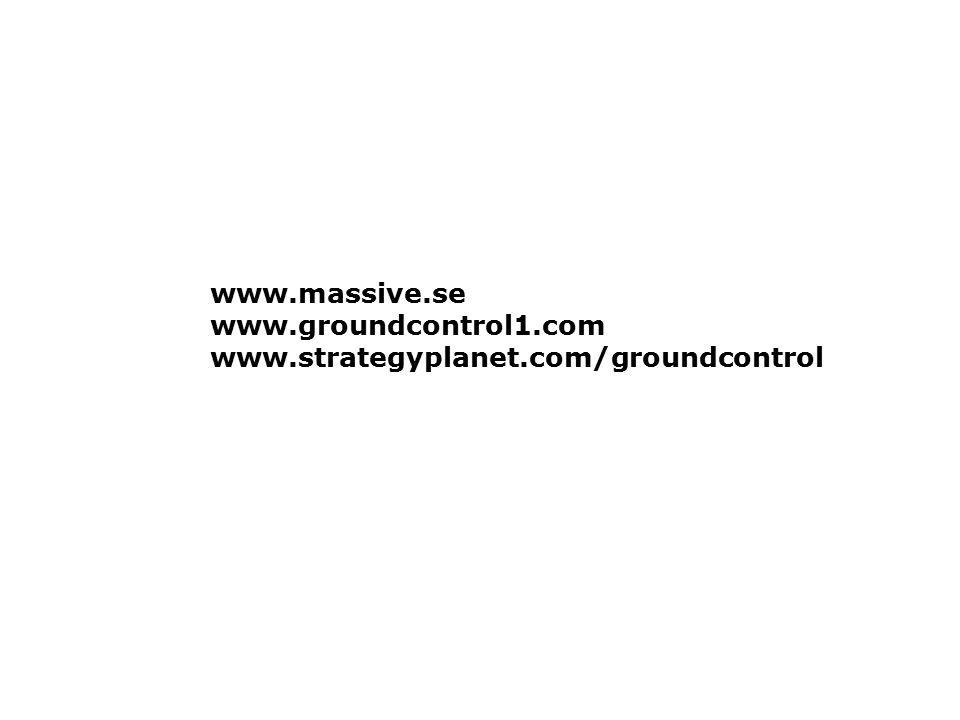 www.massive.se www.groundcontrol1.com www.strategyplanet.com/groundcontrol