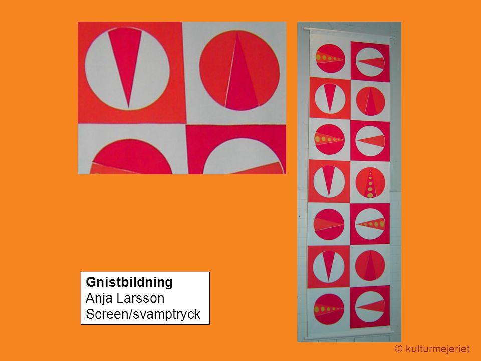 © kulturmejeriet Gnistbildning Anja Larsson Screen/svamptryck