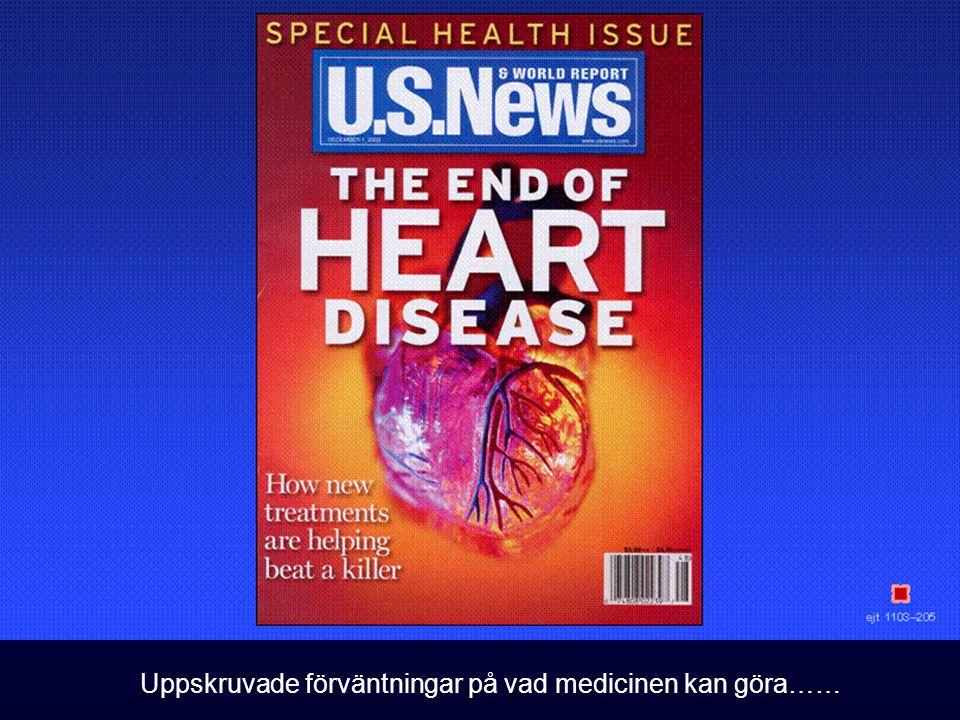Uppskruvade förväntningar på vad medicinen kan göra……