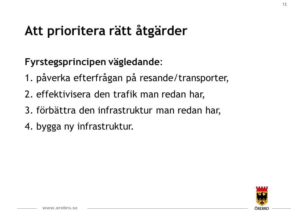 13 www.orebro.se Åtgärder som är på gång eller snart ska påbörjas 30 km/tim som ny bashastighet Effektivare kollektivtrafik – flera åtgärder Påverka anställdas resande (egna organisationen)  Påverka resande i företag och organisationer Hållbara resor till och från skolan Ökad produktion och användning av biogas Minska användningen av dubbdäck Upphandla tillgång till bil istället för fordon Förtätning för minskat transportbehov