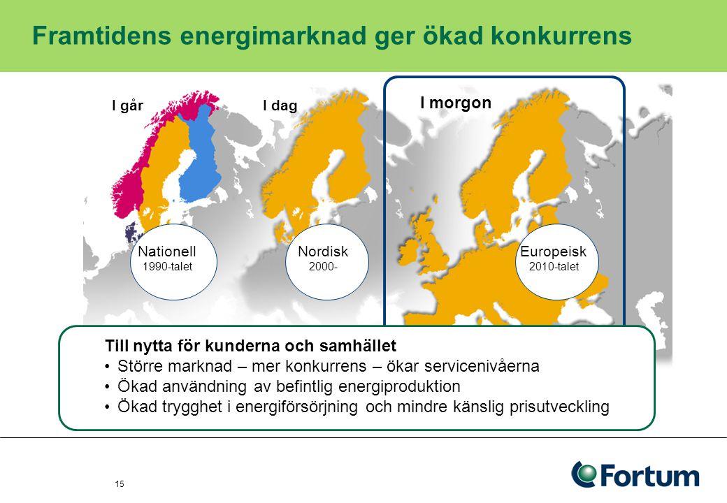 16 Dagens upplägg 1.Kort om Fortum – vad vi gör och vilka marknader vi är verksamma på 2.Hur går det för energisektorn.