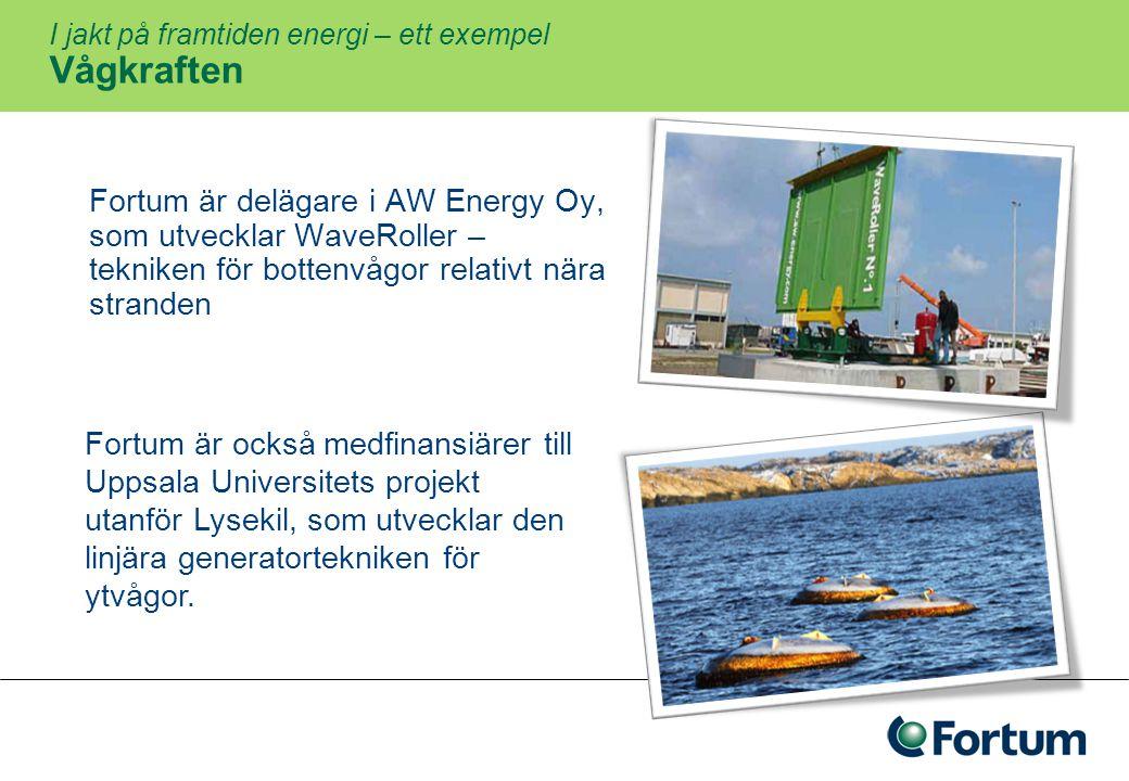 I jakt på framtiden energi – ett exempel Elbilen – infrastruktur och utveckling 23 100 nya laddplatser i Stockholm under 2009 Verkar för en enhetlig standard för laddstolpar och infrastruktur Byter ut egen bilflotta