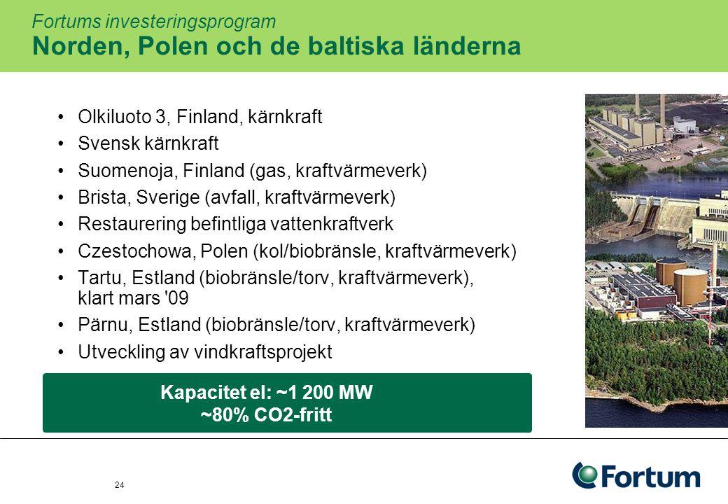 25 Terminssäkring av Power Generations nordiska kraftproduktion Andelen säkratTerminspris 2009cirka, %Euro per MWh Läget vid utgångenJunSepJunSep 2009 ut80755050 201065654344 201130354242