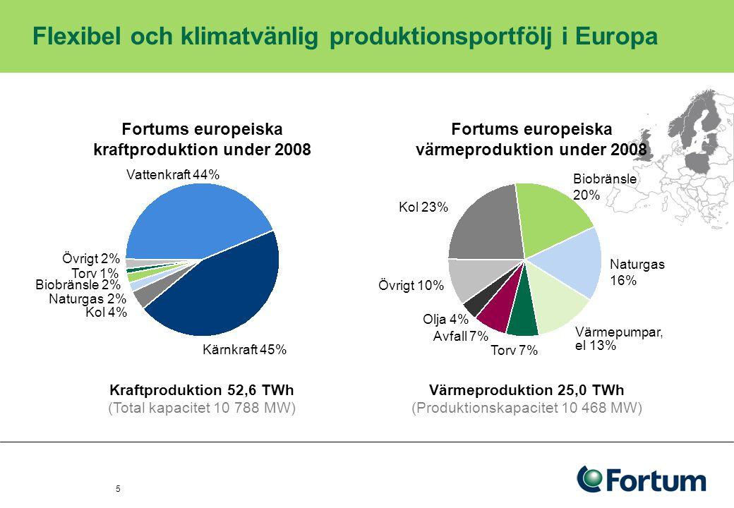 Vår produktionskapacitet Kärnkraften Fortum äger och driver Lovisa kraftverk och har andelar i –Industrins Kraft Ab:s (TVO) befintliga kärnkraftverksenheter i Olkiluoto –den kärnkraftverksenhet som byggs i Olkiluoto.