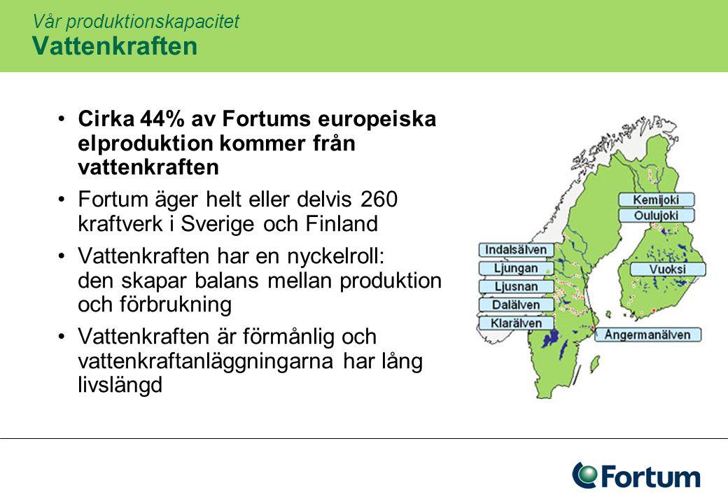 8 Fortums strategi Att bygga det ledande kraft- och värmebolaget Att bli kundernas naturliga val av energileverantör Förstklassiga resultat Fortum fokuserar på energimarknaden i Norden, Ryssland och Östersjöområdet som en plattform för lönsam tillväxt