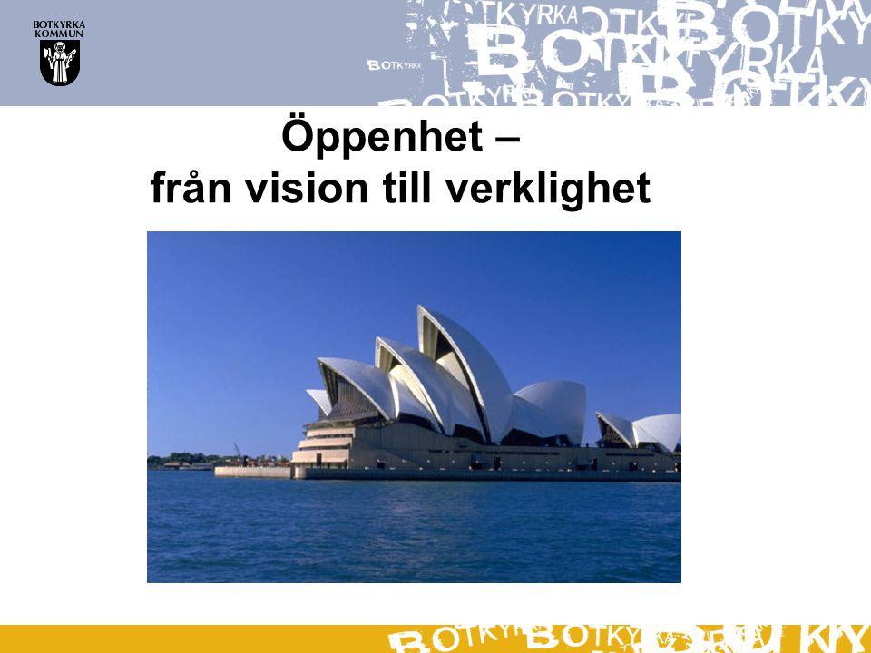 Öppenhet – från vision till verklighet