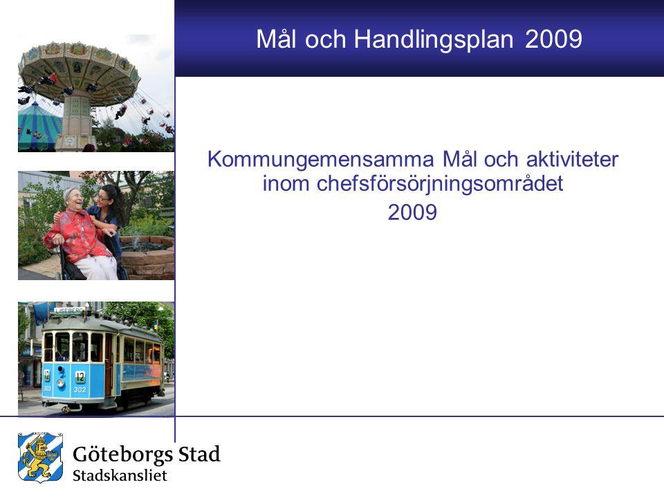 Mål och Handlingsplan 2009 Kommungemensamma Mål och aktiviteter inom chefsförsörjningsområdet 2009