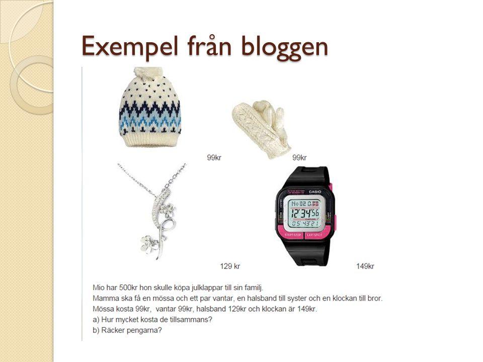 Exempel från bloggen