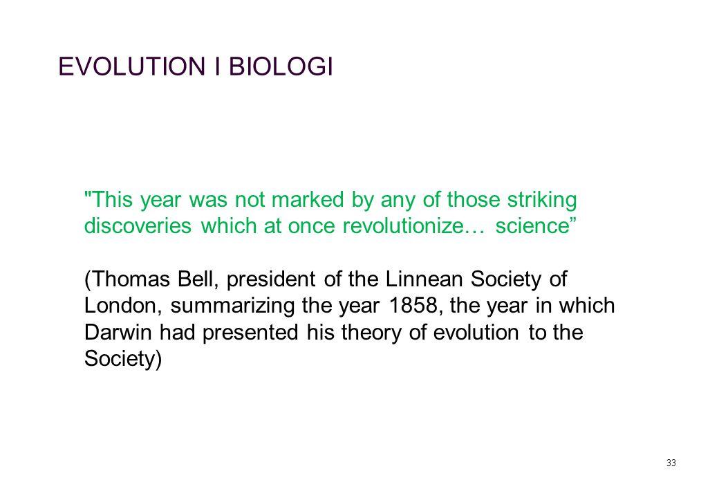 33 EVOLUTION I BIOLOGI