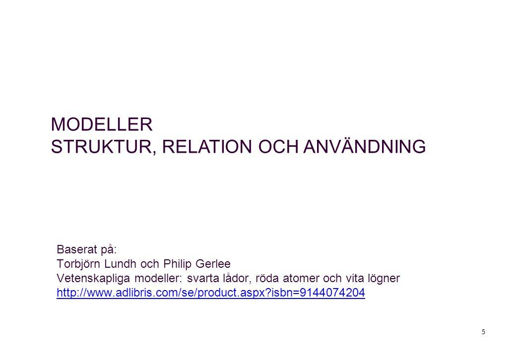 5 Baserat på: Torbjörn Lundh och Philip Gerlee Vetenskapliga modeller: svarta lådor, röda atomer och vita lögner http://www.adlibris.com/se/product.as
