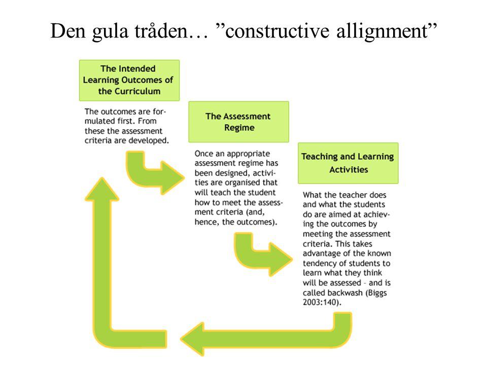 "Den gula tråden… ""constructive allignment"""
