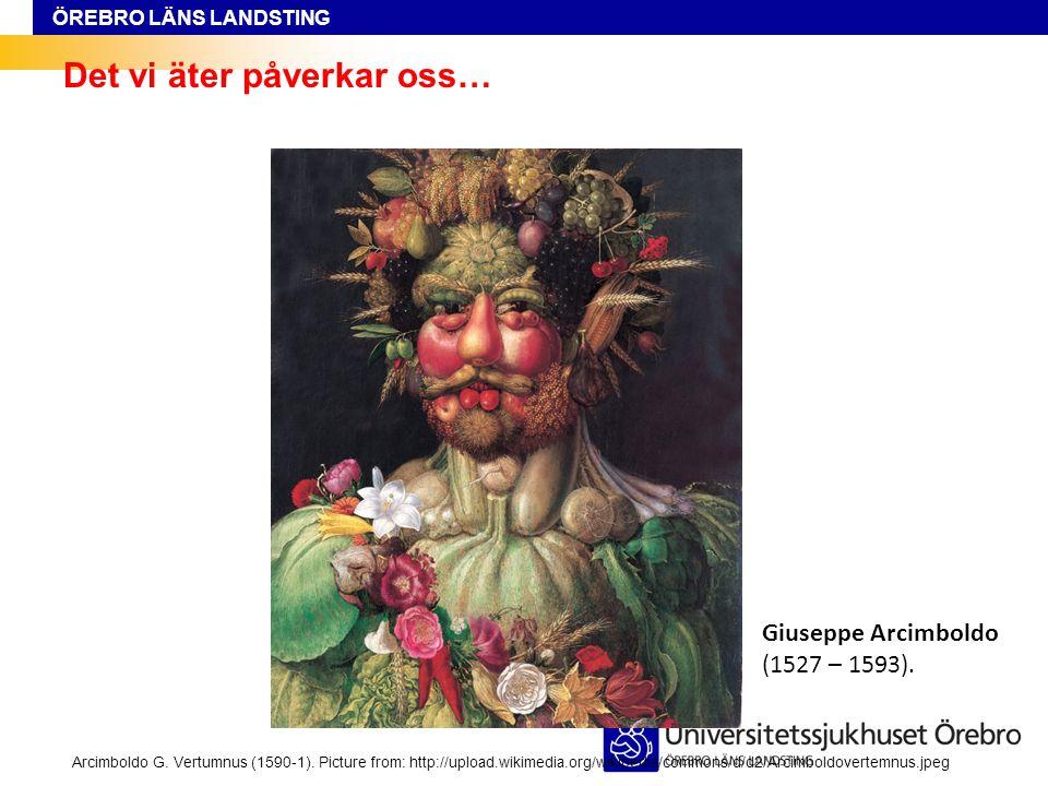 ÖREBRO LÄNS LANDSTING Det vi äter påverkar oss… Arcimboldo G. Vertumnus (1590-1). Picture from: http://upload.wikimedia.org/wikipedia/commons/d/d2/Arc