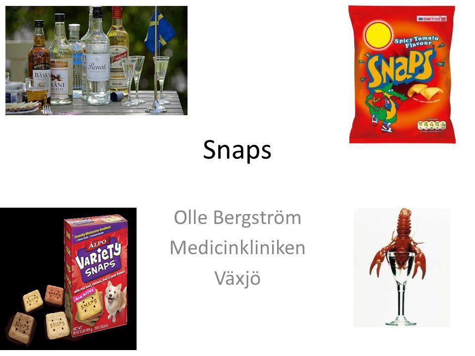 Snaps Olle Bergström Medicinkliniken Växjö