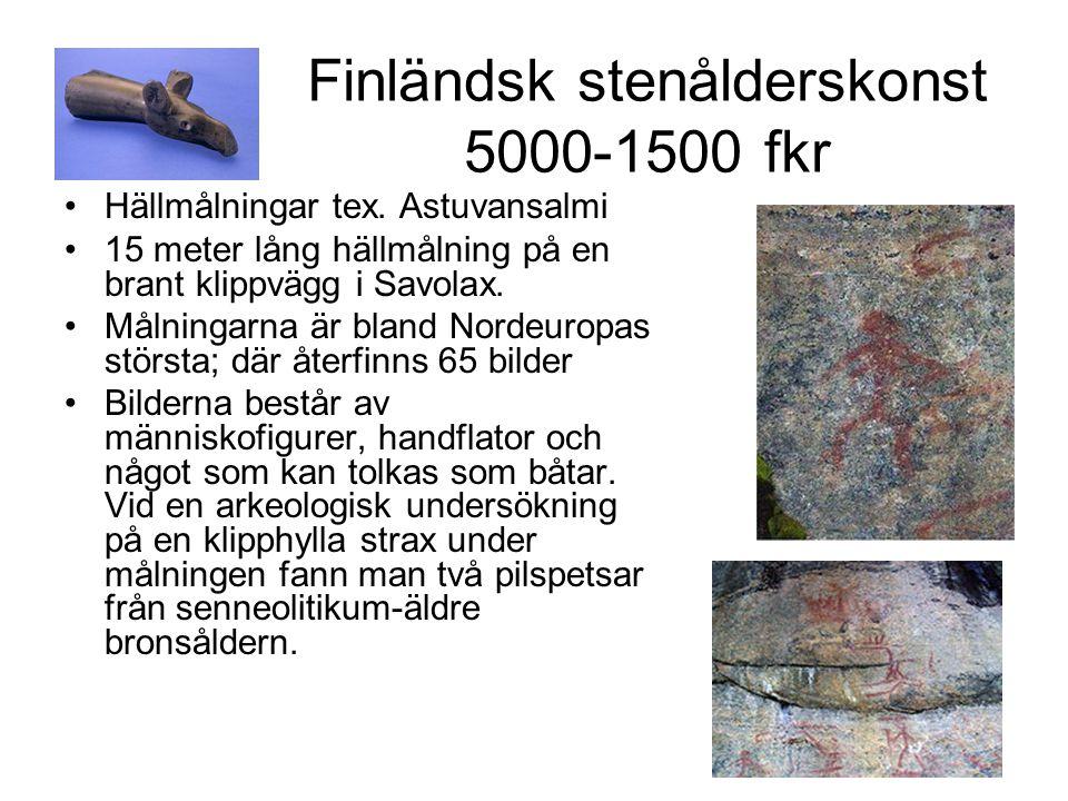 Finländsk stenålderskonst 5000-1500 fkr Hällmålningar tex.