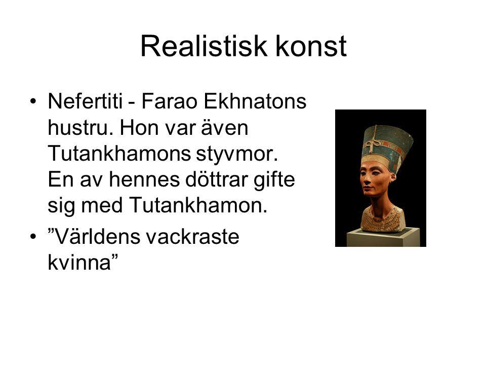Realistisk konst Nefertiti - Farao Ekhnatons hustru.