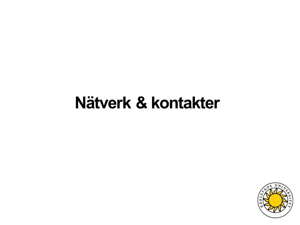 Nätverk & kontakter