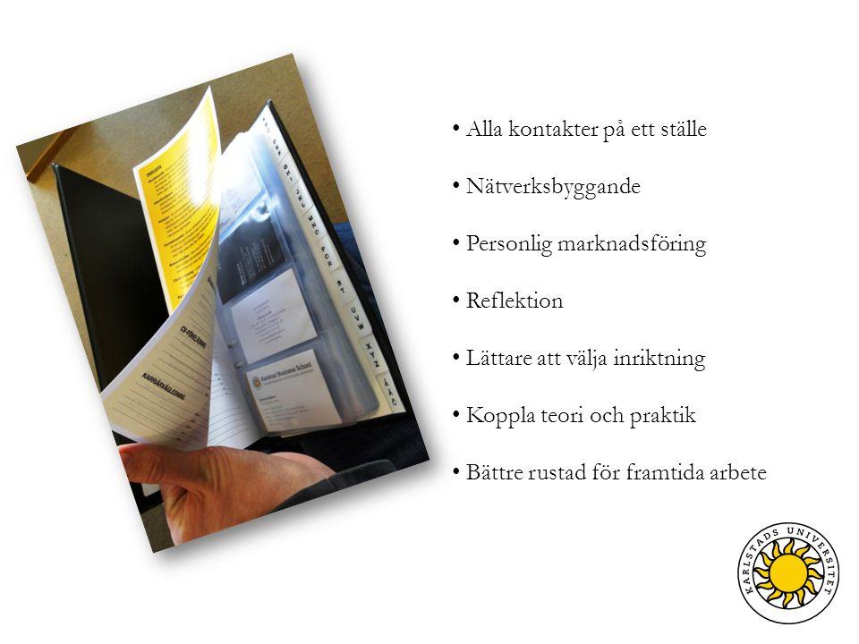 Alumner Karriärvägledning Karriärveckan Case / projektuppgifter CV-seminarium Fejkade jobbintervjuer Fältstudier Gästföreläsare Branschträffar Praktik Mentorprogram Sommarjobb Arbetsmarknadsdagar Kontaktgarantin