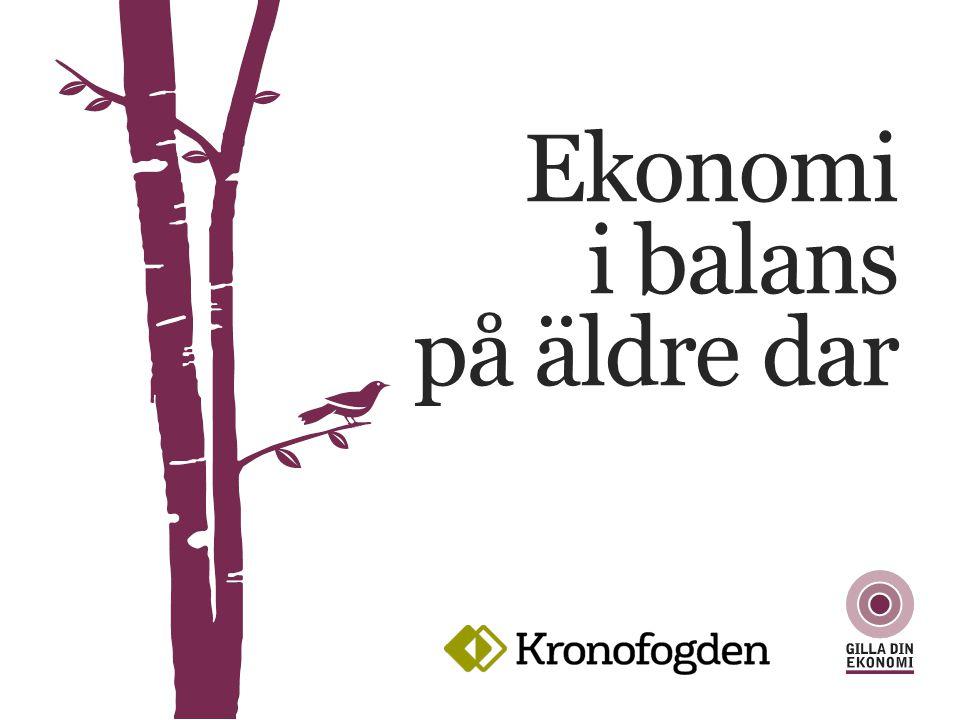 Om du behöver låna EKONOMI I BALANS PÅ ÄLDRE DAR