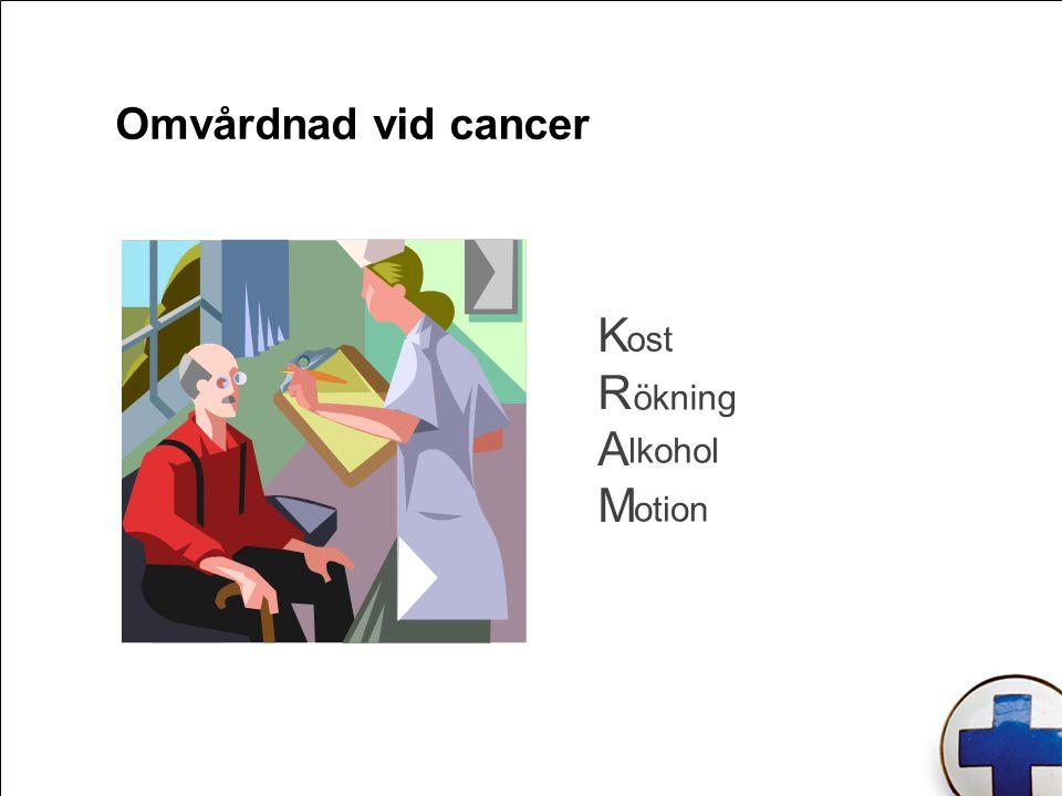 Omvårdnad vid cancer KRAMKRAM ost ökning lkohol otion