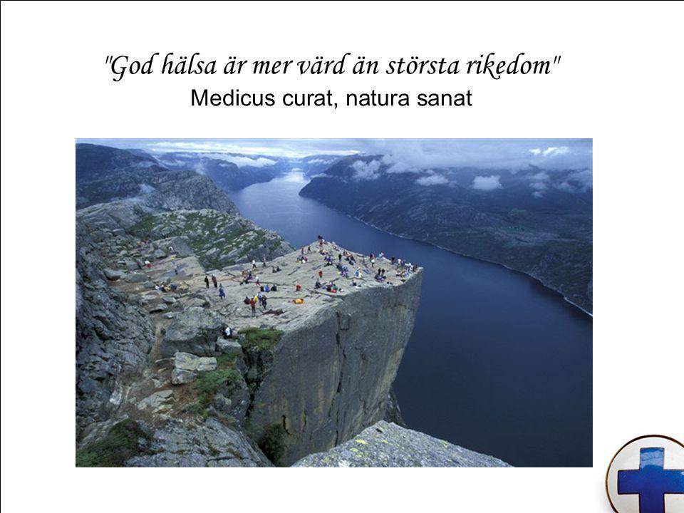 God hälsa är mer värd än största rikedom Medicus curat, natura sanat