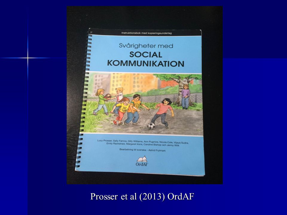 Prosser et al (2013) OrdAF