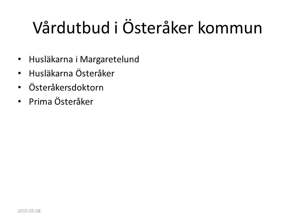 Vårdutbud i Österåker kommun Husläkarna i Margaretelund Husläkarna Österåker Österåkersdoktorn Prima Österåker 2015-05-08