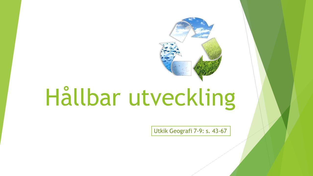 Vad är hållbar utveckling.