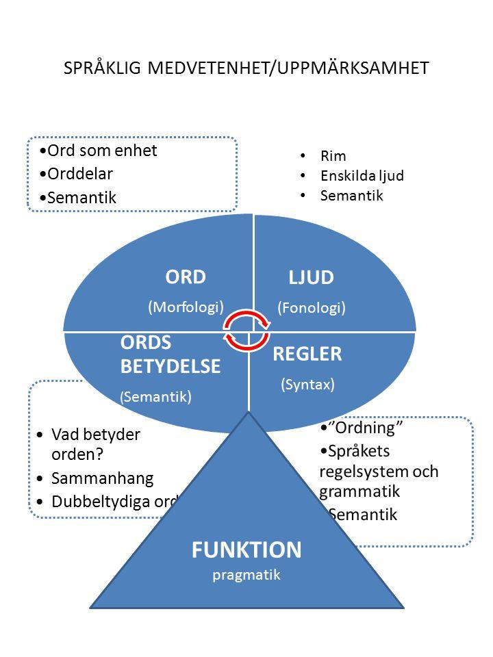 Skillnad på ord/språkförståelse och ord/språkproduktion.