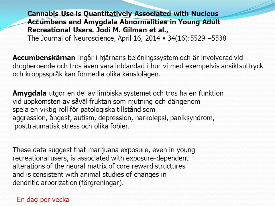 Cannabis Use is Quantitatively Associated with Nucleus Accumbens and Amygdala Abnormalities in Young Adult Recreational Users.
