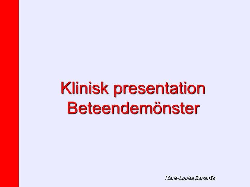 Marie-Louise Barrenäs Klinisk presentation Beteendemönster