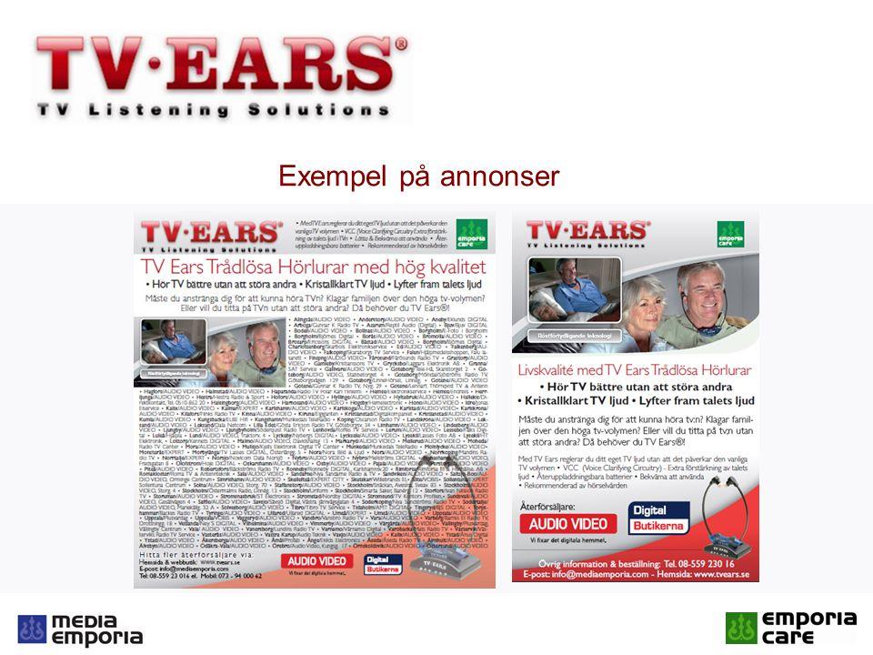 Exempel på annonser