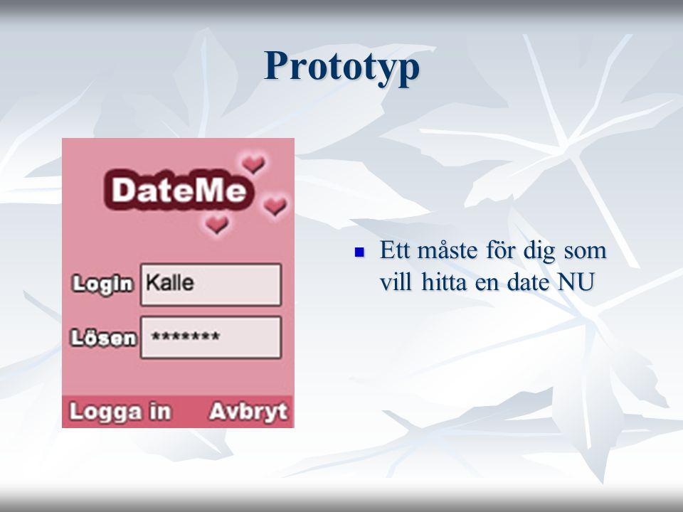 Prototyp Ett måste för dig som vill hitta en date NU Ett måste för dig som vill hitta en date NU